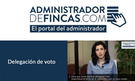 En qué consiste la delegación de voto